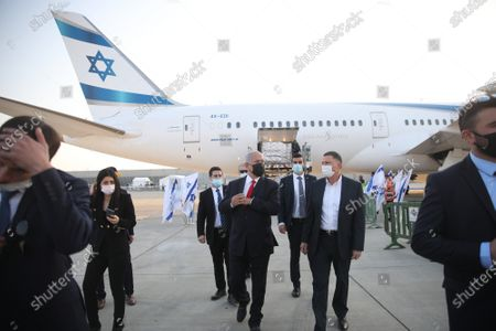 Editorial image of Benjamin Netanyahu attends the arrival of Pfizer Coronavirus vaccines, Lod, Isreal - 10 Jan 2021