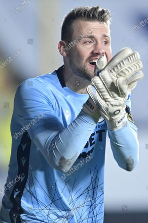 Club's goalkeeper Simon Mignolet pictured during a soccer match between Sint-Truidense VV and Club Brugge, Sunday 10 January 2021 in Sint-Truiden, on the advanced day thirty of the 'Jupiler Pro League' first division of the Belgian championship.