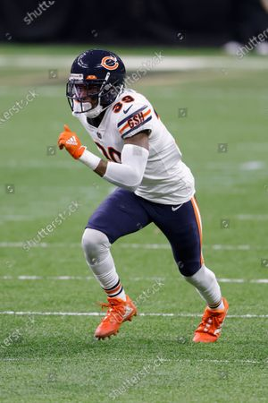 Chicago Bears free safety Eddie Jackson (39) during an NFL wild-card playoff football game against the New Orleans Saints, in New Orleans. The Saints defeated the Bears 21-9