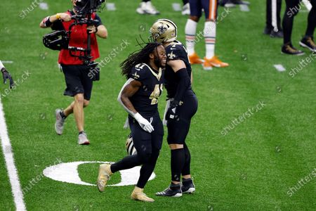New Orleans Saints running back Alvin Kamara (41) during an NFL wild-card playoff football game against the Chicago Bears, in New Orleans. The Saints defeated the Bears 21-9
