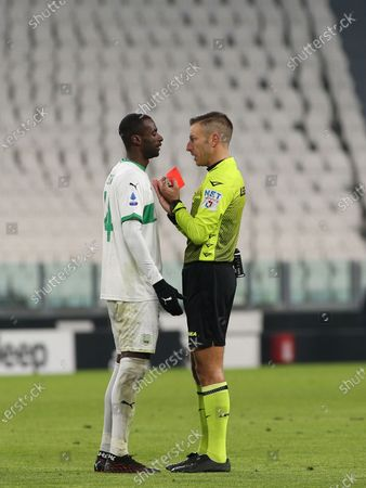 14 Pedro Obiang (Sassuolo) red card
