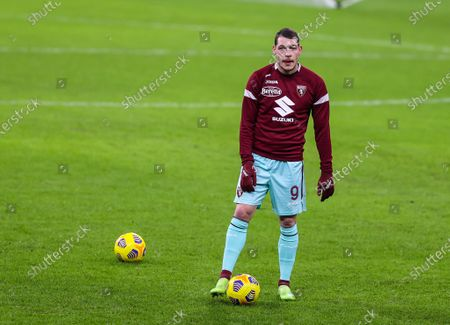 Andrea Belotti of Torino FC warms up