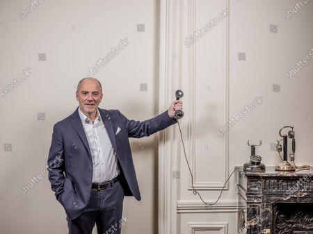 Editorial photo of Stephane Richard photoshoot, Paris, France - 07 Jan 2021