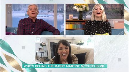 Stock Image of Phillip Schofield, Holly Willoughby and Martine McCutcheon
