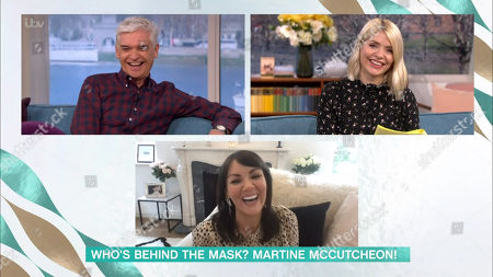Stock Picture of Phillip Schofield, Holly Willoughby and Martine McCutcheon