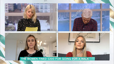 Holly Willoughby, Phillip Schofield, Jessica Allen and Eliza Moore