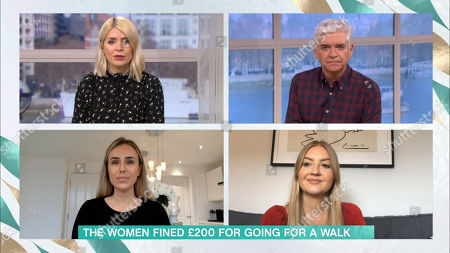 Stock Picture of Holly Willoughby, Phillip Schofield, Jessica Allen and Eliza Moore
