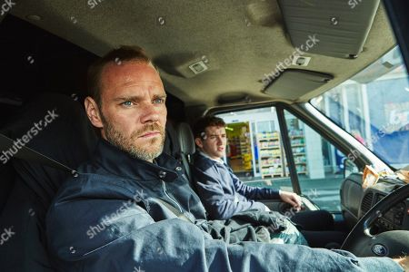 Stock Photo of Joe Absolom as Andy Warren and Art Parkinson as Rob Armstrong