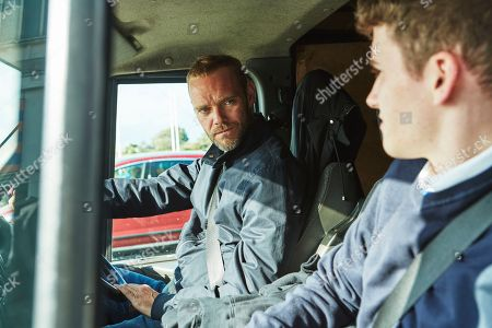 Stock Picture of Joe Absolom as Andy Warren and Art Parkinson as Rob Armstrong