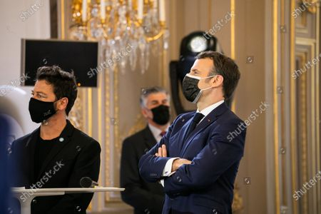 Fourth edition of the 'One Planet Summit' dedicated to the issues of biodiversity protection.  Emmanuel Macron and Christophe Mae