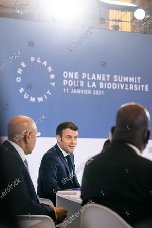 Emmanuel Macron president of the French Republic, Mohamed Cheikh El Ghazouani president of the Islamic Republic of Mauritania, Franck Riester Minister delegate in charge of foreign trade