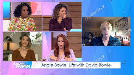 Charlene White, Nadia Sawalha, Frankie Bridge, Stacey Solomon and Angie Bowie