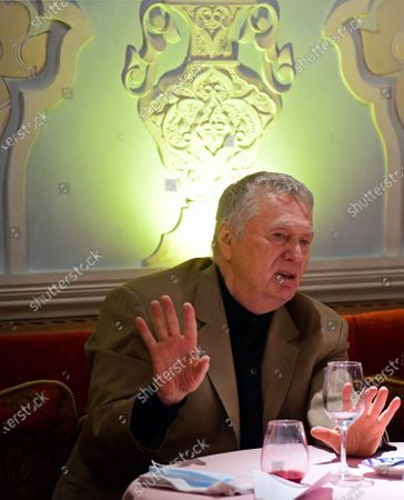 Leader of the Liberal Democratic Party (LDPR) Vladimir Zhirinovsky during a working lunch-meeting of deputies of the Russian State Duma from the LDPR faction. Lunch-meeting was held at the Uzbekistan restaurant.