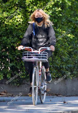 Malin Akerman goes for a bike ride