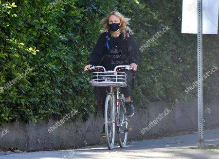 Stock Image of Malin Akerman goes for a bike ride