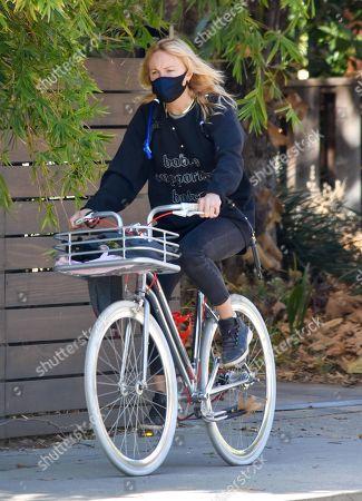 Stock Photo of Malin Akerman goes for a bike ride