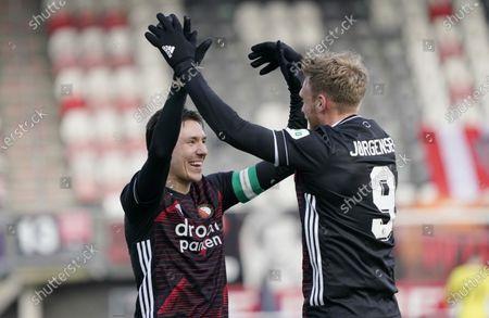 Stock Photo of Nicolai Jorgensen (Feyenoord) and STEVEN BERGHUIS (FEYENOORD) scores 0-2