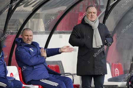 Trainer Dick Advocaat and John de Wolf