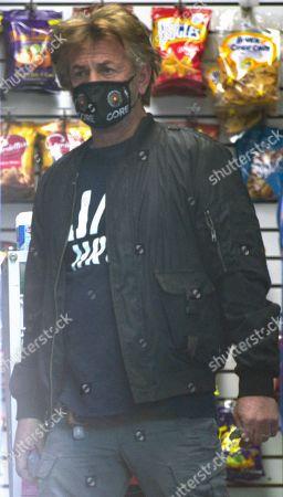 Sean Penn shopping in Brentwood