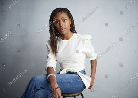 """Nicole Beharie poses for a portrait to promote the film """"Miss Juneteenth"""" at the Music Lodge during the Sundance Film Festival, in Park City, Utah. Beharie won a Gotham Award for best actress on Monday, Jan. 11, 2021 for her role in the film"""