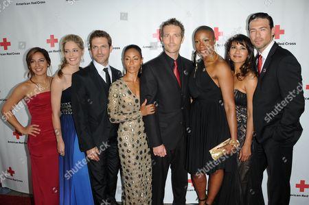 Stock Image of Cast of Hawthorne: Jada Pinkett Smith, Christina Moore, Vanessa Lengies, David Julian Hirsh, Michael Vartan, Hannah Hodson