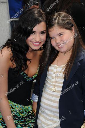 Stock Picture of Demi Lovato and Madison De La Garza