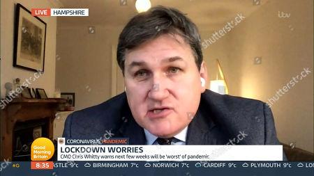 Editorial image of 'Good Morning Britain' TV Show, London, UK - 12 Jan 2021