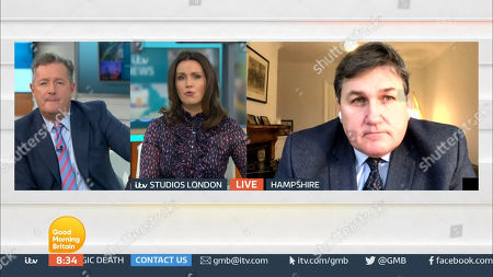 Editorial picture of 'Good Morning Britain' TV Show, London, UK - 12 Jan 2021