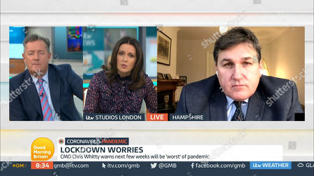 Stock Picture of Piers Morgan, Susanna Reid and Kit Malthouse
