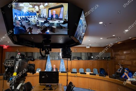Editorial photo of Un Guterres One Planet Summit - 12 Jan 2021