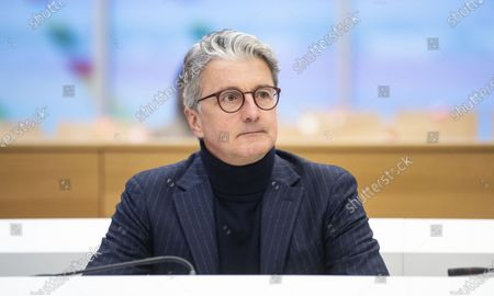 Former CEO of German carmaker Audi AG Rupert Stadler arrives at the criminal trial of the Volkswagen diesel scandal in the courtroom at the Stadelheim prison in Munich, Germany, 12 January 2021.