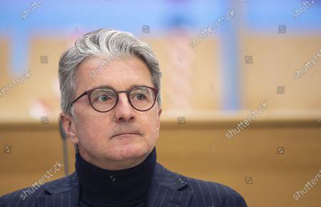 Former CEO of German carmaker Audi AG Rupert Stadler arrives at the criminal trial of the Volkswagen diesel scandal in the courtroom at the Stadelheim prison in Munich, Germany, 12 January 2021.