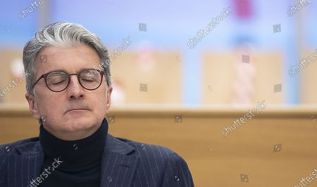 Former CEO of German carmaker Audi AG Rupert Stadler waits for the continuation of the criminal trial of the Volkswagen diesel scandal in the courtroom at the Stadelheim prison in Munich, Germany, 12 January 2021.