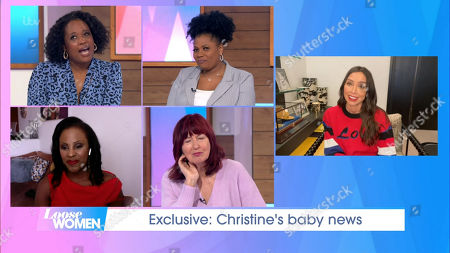 Stock Image of Charlene White, Brenda Edwards, Kelle Bryan, Janet Street-Porter and Christine Lampard