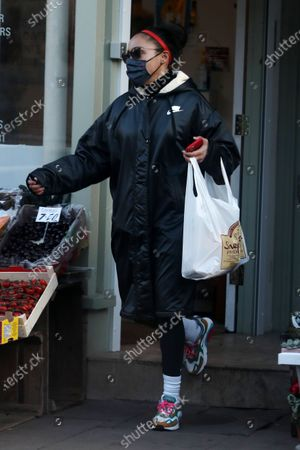 Editorial image of Alex Scott out and about, London, UK - 12 Jan 2021