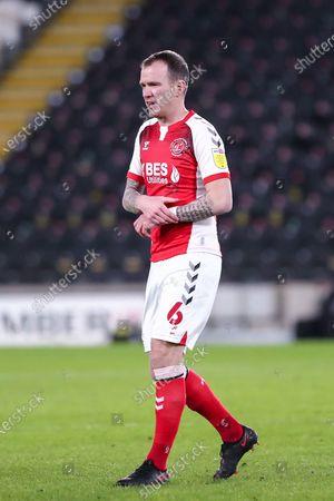 Glenn Whelan during the EFL Trophy match between Hull City and Fleetwood Town at the KCOM Stadium, Kingston upon Hull