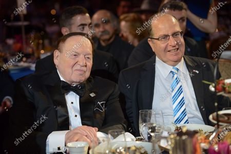 """Sheldon Adelson, Moshe """"Bogie"""" Ya'alon"""