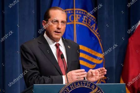 Health and Human Services Secretary Alex Azar speaks during a news conference on Operation Warp Speed and COVID-19 vaccine distribution, in Washington