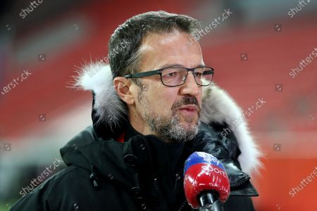 Fredi Bobic, Sporting Director of Eintracht Frankfurt talks to the media prior to the DFB Cup second round match between Bayer 04 Leverkusen and Eintracht Frankfurt at BayArena in Leverkusen, Germany, 12 January 2021.