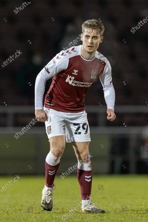 Northampton Town Forward Danny Rose (29) during the EFL Trophy match between Northampton Town and Milton Keynes Dons at the PTS Academy Stadium, Northampton