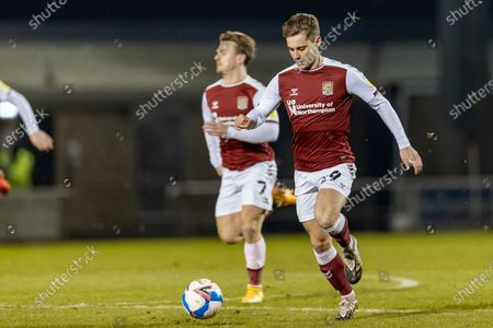 Northampton Town Forward Danny Rose (29) on the ball during the EFL Trophy match between Northampton Town and Milton Keynes Dons at the PTS Academy Stadium, Northampton