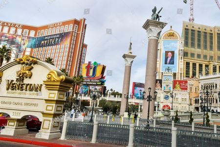 The Venetian resort honors Sheldon Adelson with a billboard on the day of his passing
