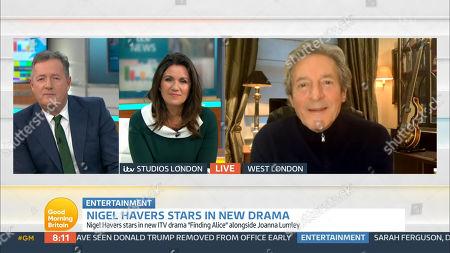 Piers Morgan, Susanna Reid and Nigel Havers