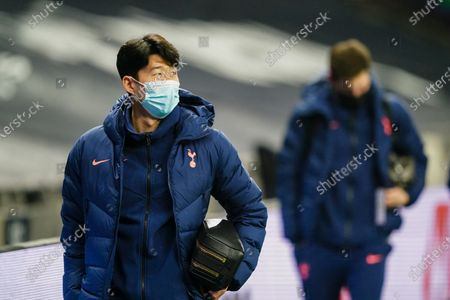 Son Heung-Min of Tottenham Hotspur arrives at the stadium
