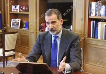 King Felipe VI attends the opening of the XI edition of Spain Investors Day, Zarzuela Palace, Madrid