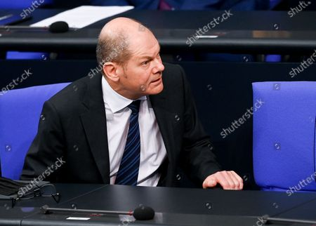 German Minister of Finance Olaf Scholz during a session of the German parliament 'Bundestag' in Berlin, Germany, 13 January 2021.