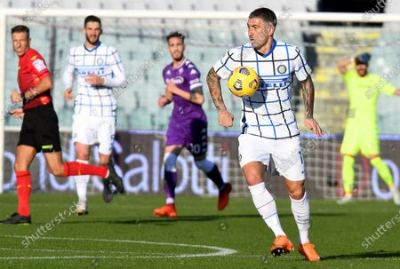 Inter's Aleksandar Kolarov in action during the Italian Cup round of 16 soccer match between ACF Fiorentina and Inter Milan at Artemio Franchi stadium in Florence, Italy, 13 January 2021.