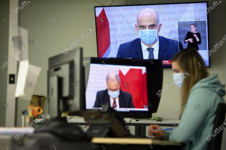 Editorial photo of Swiss government announces new measures against spreading of coronavirus pandemic, Lausanne, Switzerland - 13 Jan 2021