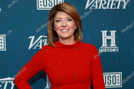 """Norah O'Donnell attends Variety's third annual """"Salute to Service"""" celebration, in New York. The CBS Evening News anchor says she's """"never covered a year in my entire journalistic career like this last year."""" From the ongoing COVID global pandemic and George Floyd protests around the world to the contested 2020 presidential and last week's storming of the U.S. capitol by armed insurgents, O'Donnell concluded that """"journalism is more important than ever"""