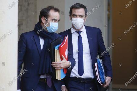 Sebastien Lecornu, Minister for Overseas France with Olivier Veran Minister of Health
